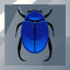 Scarab Toss Silver