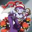 紫の髪をした乙女の戦士