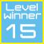 level 15 winner!