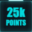 25,000 points